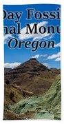Oregon - John Day Fossil Beds National Monument Blue Basin Hand Towel