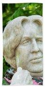 Oscar Wilde Statue One  Bath Towel