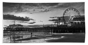 Pacific Park - Black And White Hand Towel