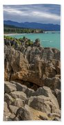Pancake Rocks - New Zealand Bath Towel