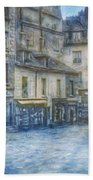 Paris, Rue Du Haut Pave 1866 Bath Towel