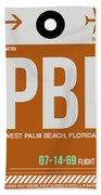 Pbi West Palm Beach Luggage Tag II Bath Towel