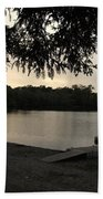 Peaceful Sunset At The Park Bath Towel