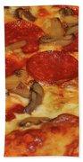 Pepperoni Pizza Mushrooms Bath Towel