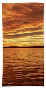 Percy Priest Lake Sunset Bath Towel