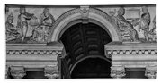Philadelphia City Hall Fresco In Black And White Bath Towel