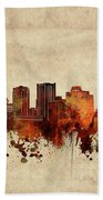 Phoenix Skyline Sepia Bath Towel