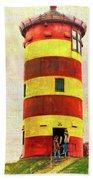 Pilsum Lighthouse Leuchtturm  Bath Towel
