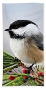 Pine Chickadee Bath Towel