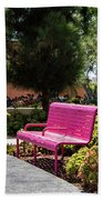 Pink Chairs At Grand Park Bath Towel