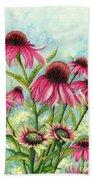 Pink Coneflowers Hand Towel