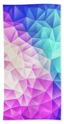 Pink Ice Blue  Abstract Polygon Crystal Cubism Low Poly Triangle Design Bath Towel
