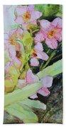 Pink Moth Orchids II Bath Towel