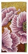 Pink Ponderings Bath Towel by Amy E Fraser