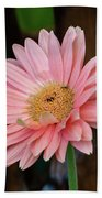 Pink Gerbera Daisy Bath Towel