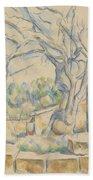 Pistachio Tree At Chateau Noir Bath Towel