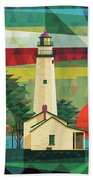 Point Aux Barques-michigan  Hand Towel