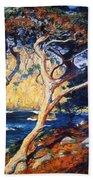 Point Lobos Trees 1919 Bath Towel
