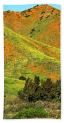 Poppy Hills And Gullies Bath Towel