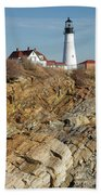 Portland Head Light - Cape Elizabeth Maine Bath Towel