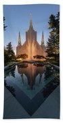 Portland Temple Night Bath Towel