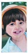 Portrait Of Little Girl. Bath Towel