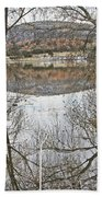 Prescott Arizona Watson Lake Trees Reflections Hill Rocks 3142019 4921 Hand Towel