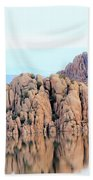 Prescott Arizona Watson Lake Water Mountains Lake Rocks Sky Reflections 4835 Hand Towel
