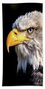 Profile Of Bald Eagle Hand Towel