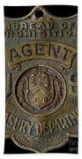Prohibition Agent Badge Bath Towel