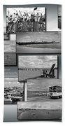 Provincetown Cape Cod Massachusetts Collage Bw 02 Bath Towel