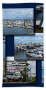Provincetown Marina Cape Cod Massachusetts Collage Bath Towel
