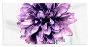 Purple Blend Petals Two Bath Towel