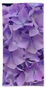 Purple Hydrangea  Bath Towel