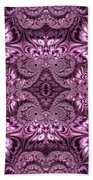 Purple Lilac Gardens And Reflecting Pools Fractal Abstract Bath Towel by Rose Santuci-Sofranko