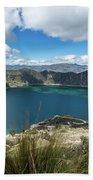 Quilotoa Crater Lake Bath Towel