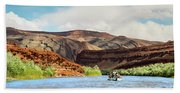 Rafting On The San Juan River Hand Towel