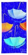 Rainy Day Parade Hand Towel