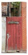 Red Alley Door Chinatown Washington Dc Hand Towel by Edward Fielding