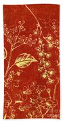 Red Blossoms Bath Towel