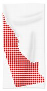 Red Dot Map Of Delaware Bath Towel