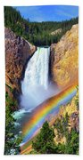 Red Rock Rainbow Bath Towel by Greg Norrell