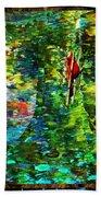 Redbird Singing Songs Of Love In The Tree Of Hope Hand Towel