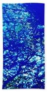 Reflection On A Blue Automobile 3 Bath Towel