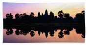 Reflections Of Angkor Wat - Siem Reap, Cambodia Hand Towel