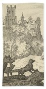 Renard Leaves With The Badger Hand Towel