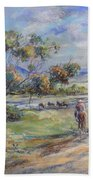 Return To Myall Creek Hand Towel by Ryn Shell