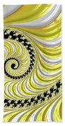 Ribbed Yellow Spiral Bath Towel