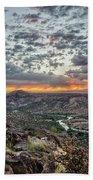 Rio Grande River Sunrise 2 - White Rock New Mexico Bath Towel