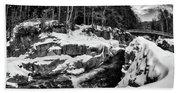 Rocky Gorge Foot Bridge N H Bath Towel